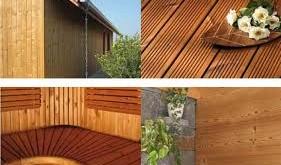 چوب ترمووود نمای محوطه های باز