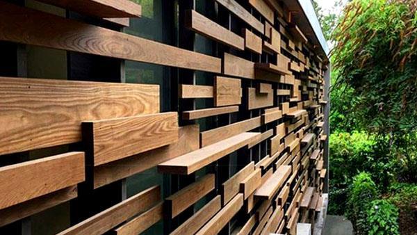 چوب نما ترموود   چوب نمای ساختمان